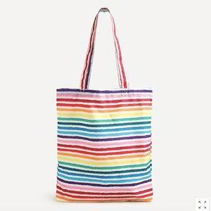🌈 🏳️🌈J Crew Recycled Reusable Rainbow Bag